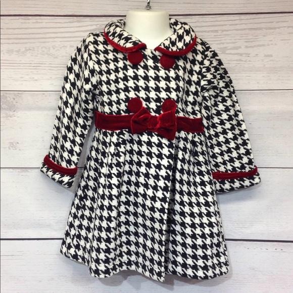 ed89a2579ad8 Blueberi Boulevard Jackets & Coats | Houndstooth Dress Jacket 2t ...